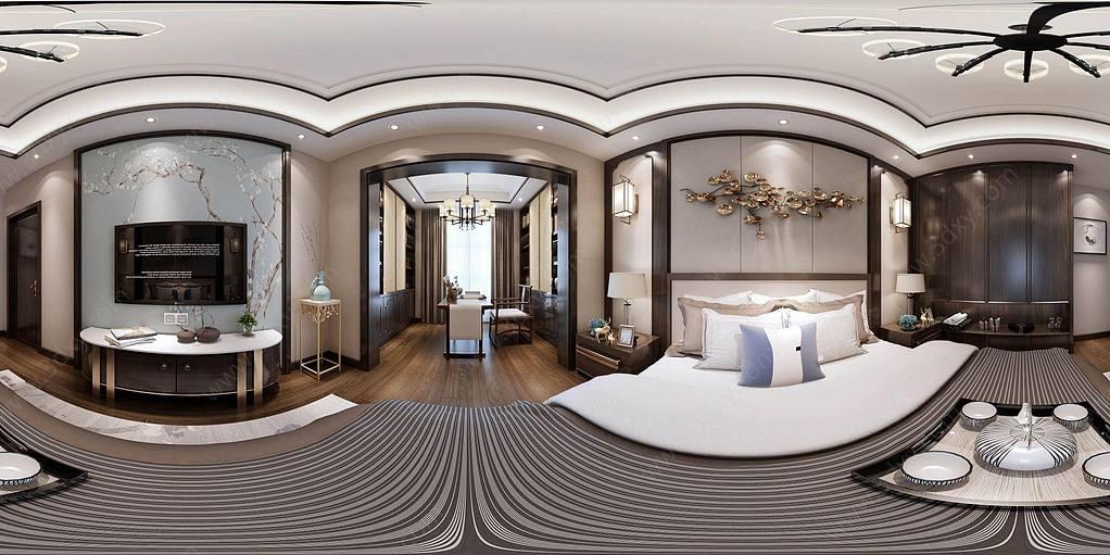 新中式風格臥室