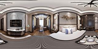 新中式風格臥室3d模型