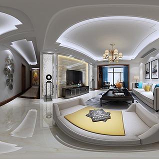 3d現代沙發躺椅壁畫模型