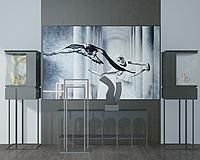 艺术品立柜人物壁画3d模型