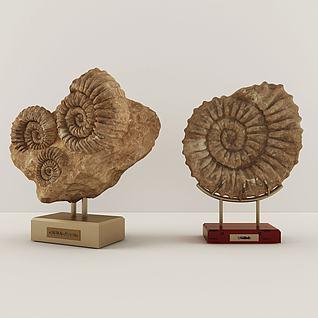 3d现代雕塑陈设品组合模型