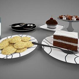 食物蛋糕甜点模型