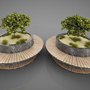花园景观园林小品模型