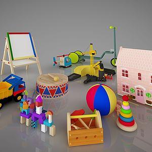 儿童玩具积木画板组合模型