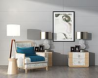 沙发边柜台灯3d模型