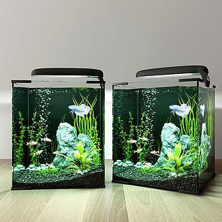 3d现代鱼缸模型