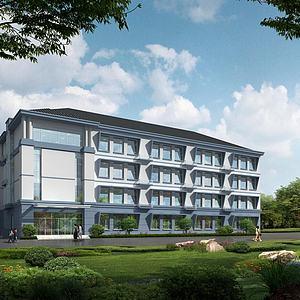 建筑教學樓學校模型3d模型