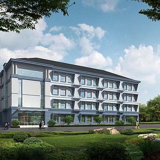 3d建筑教学楼学校模型