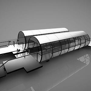 现代运送机过道模型