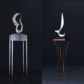 时尚雕塑摆件组合模型