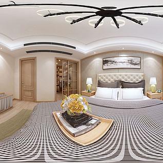 现代简约卧室3d模型