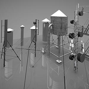 现代工业设备模型