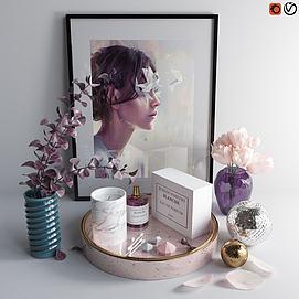 现代花瓶陈设品摆件组合模型