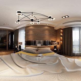 中式简约卧室3d模型