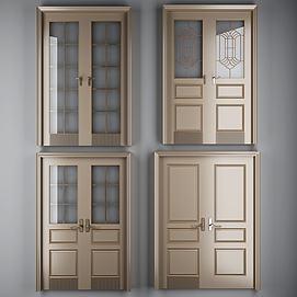现代烤漆双开门模型
