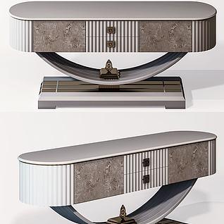 新中式床头柜3d模型