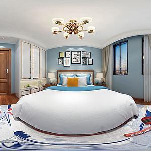 現代臥室3d模型