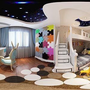 現代兒童房3d模型
