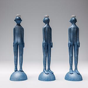 3d人物<font class='myIsRed'>雕塑</font>摆件组合模型