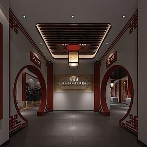 民俗文化展廳模型3d模型