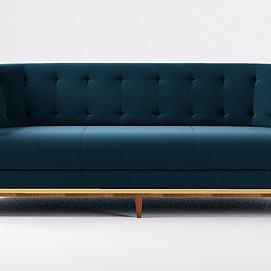 深色靠背沙发模型