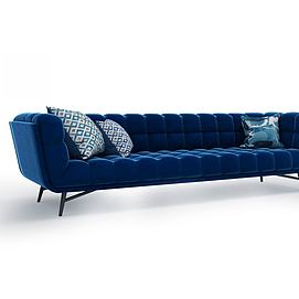 现代绒布沙发模型