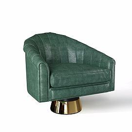 欧式皮沙发模型