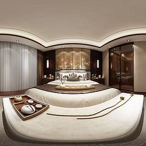 新中式臥室3d模型