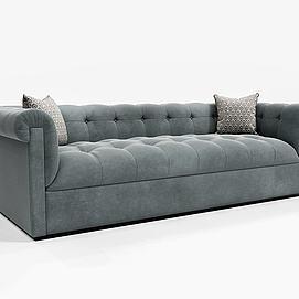 现代深色沙发模型