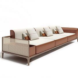简约编织沙发模型