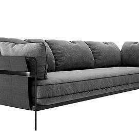 简约铁艺沙发模型