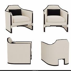 时尚沙发椅模型