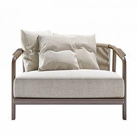 新中式沙发椅模型