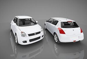 3d现代<font class='myIsRed'>小汽车</font>模型