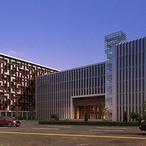 现代中医院建筑外观模型