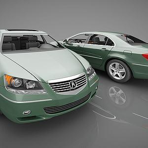 绿色轿车模型