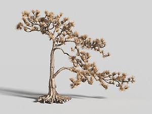 树藤木雕摆件3d模型