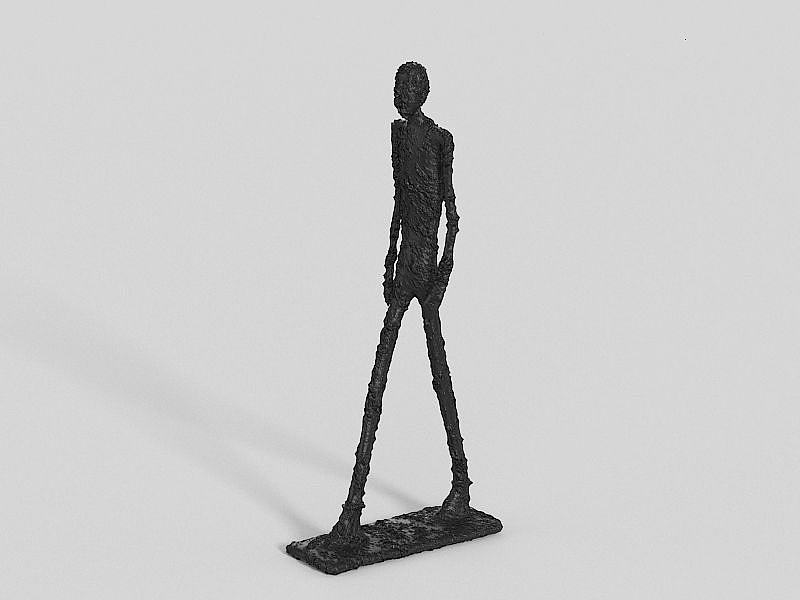 行走的人金属雕塑模型
