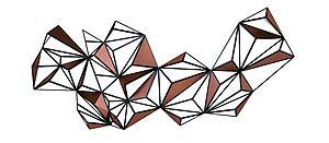现代创意壁挂模型3d模型