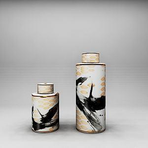 3d陶瓷<font class='myIsRed'>花瓶</font>擺件工藝品模型