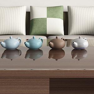 陶瓷茶壶模型