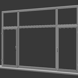现代塑钢窗框模型