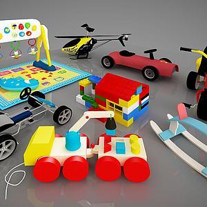 现代儿童活动器材模型