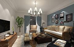 地中海风格客厅模型3d模型