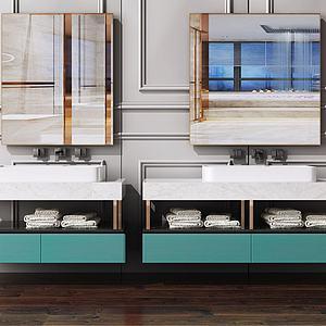 现代北欧洗手台模型