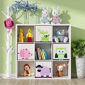 现代儿童置物柜3d模型