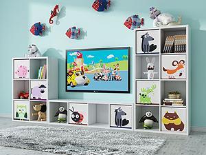 现代电视柜组合3d模型