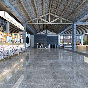 新中式展厅模型