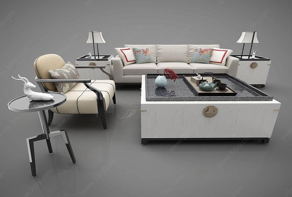 新中式风格沙发组合