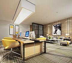 办公室桌椅沙发模型3d模型